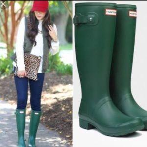 Hunter Original Green,tall Rain 🌧 boots 👢